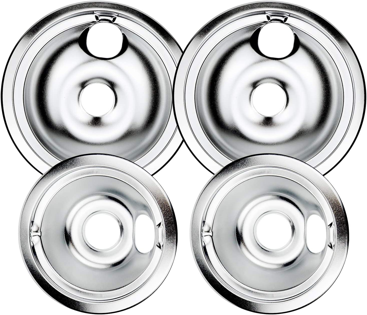 Drip Pans WB31T10010 and Max 81% OFF WB31T10011 Bowls overseas Chrome Pan Burner