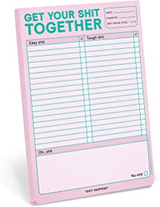Knock Knock Get Your Shit Together Pad, To Do List Note Pad, 6 x 9-inches (Pastel Edition)