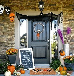 Halloween Doormat Blanket Decor with Anti-Slip Bottom Pumpkins Doormat for Home Entryway Indoor Outdoor Carpet(23.6in X 1...