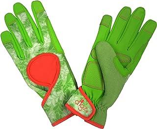 نوک انگشتان سازگار با صفحه نمایش لمسی DIGZ 7652-23 ، دستکش باغبانی و گلوی کار زنان با امضای متوسط
