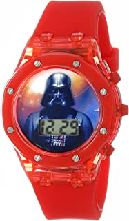 Star Wars Kids' DAR3520 Darth Vader Digital Watch with Red Rubber Band