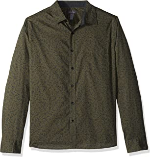 Van Heusen Men's Slim Fit Never Tuck Long Sleeve Button Down Print Shirt