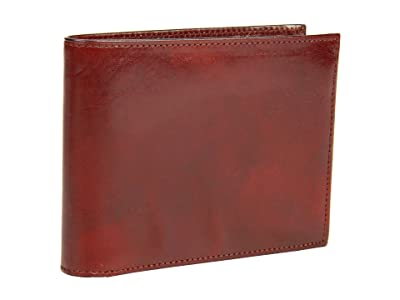 Bosca Old Leather Collection Continental ID Wallet (Cognac Leather) Bi-fold Wallet