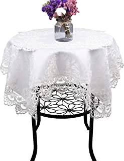 Cream White Small Square Lace Tablecloth Wedding Party Home Kitchen