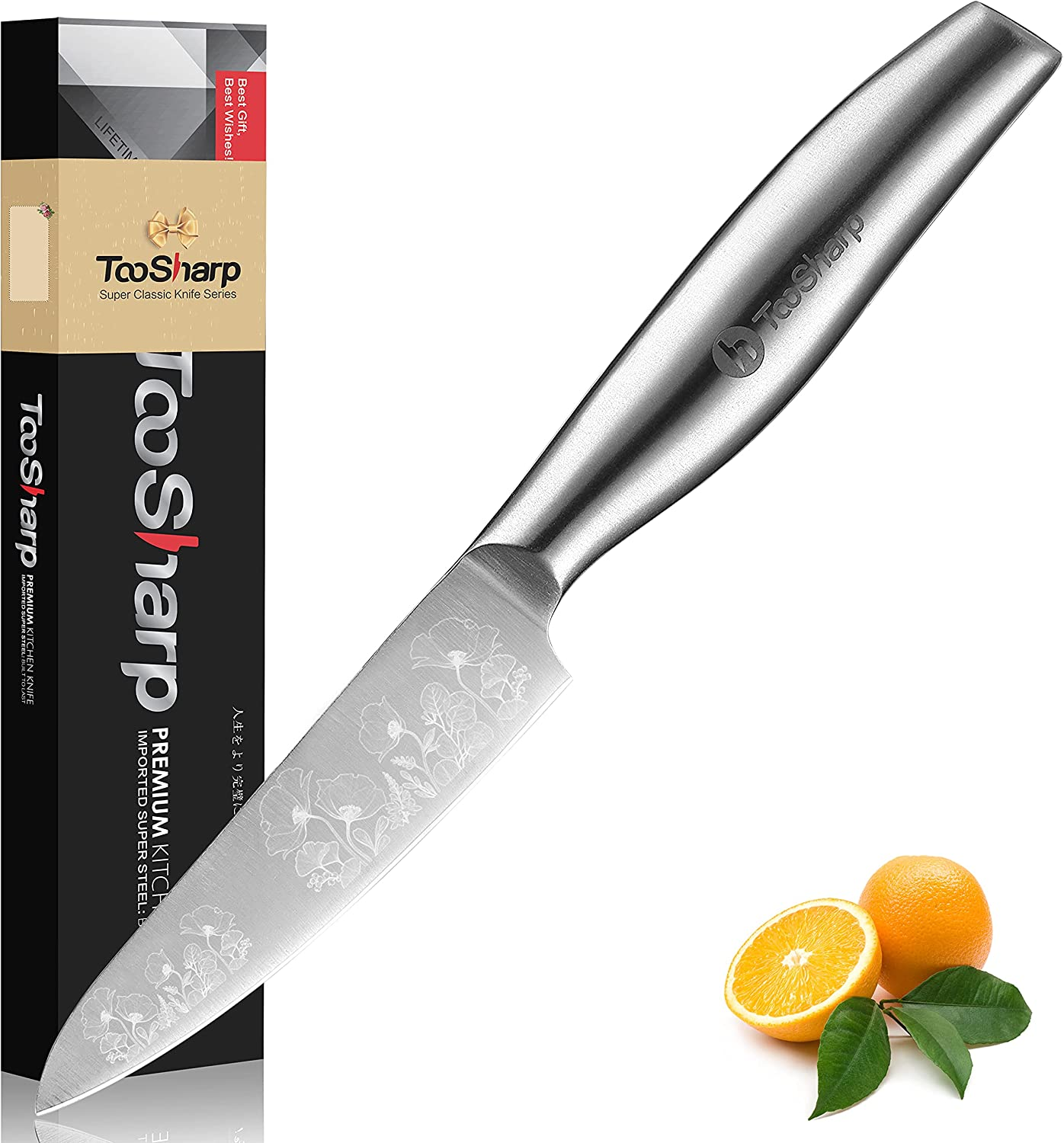 TooSharp Paring Don't miss the Sales results No. 1 campaign Knife for Cooking 4 German High Sta Carbon inch