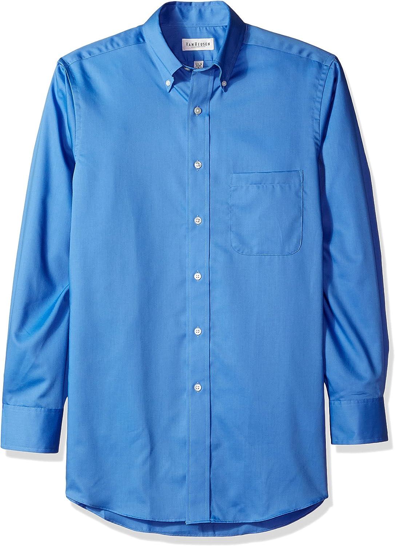 - Men's Long-Sleeve Dress Twill Twill Twill COBALT L 0a05fa