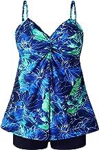 MOGGEI Women Plus Size Swimsuit for Swimwear Tankini Bathing Suit Swimwear Two Piece Design
