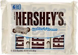 HERSHEY'S Cookies 'n' Creme Candy Bar, 6 Count