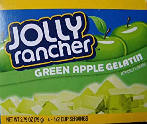 Jolly Rancher Gelatin 2.79oz Box (Pack of 12) (Green Apple)