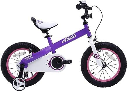 Royalbaby - Bicicleta Infantil con Botones y Miel, Ruedas de 12-14-16-18 Pulgadas, Regalo para niños y niñas
