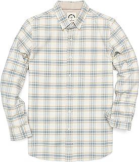 Dubinik Camisas de manga larga con botones para hombre de algodón a cuadros casuales Oxford camisas de ajuste regular con ...