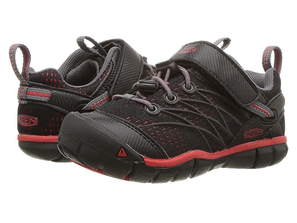Keen Kids Chandler CNX (Toddler/Little Kid) (Raven/Fiery Red) Boys Shoes