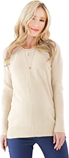 Maternity and Nursing Pregnancy Fall Winter Warm Cotton Pullover Sweater