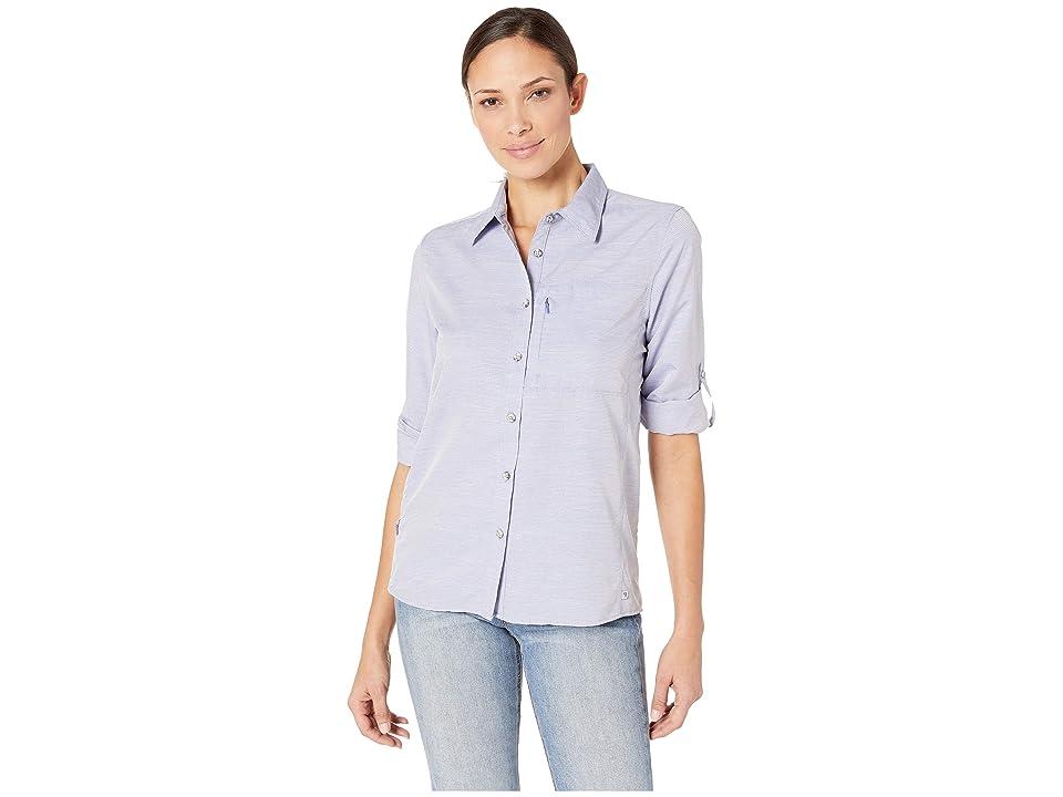 Mountain Hardwear Canyontm Long Sleeve Shirt (Blue Print) Women