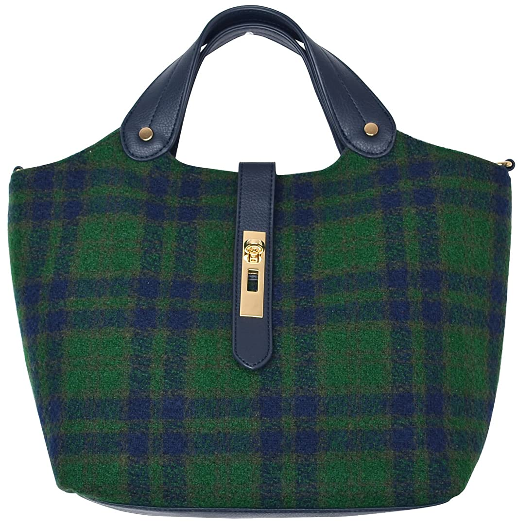 ステレオティッシュ導入する(カービーズ) curvy's ハンドバッグ ハンド バッグ カバン 鞄 bag チェック ファブリック