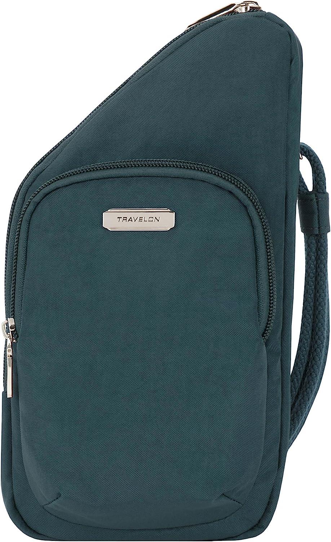 Travelon Crossbody Bag, Peacock, 5.25W x 10.5H x 1.5D