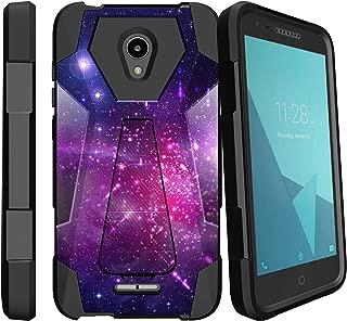 MINITURTLE Compatible with Alcatel idealXCITE, Alcatel Fiji, Alcatel Verso, Alcatel Raven, Alcatel CameoX Kickstand Dual Layer Black Case - Heavenly Stars