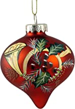 Caffco French Horn Hand Painted Top Hanging Christmas Ornament