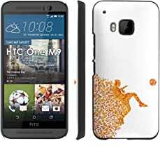 Soccer Man Jump Kick - Slim Clip-on Phone Case Cover for [HTC One M9] includes [Ultra Clear Screen Protector]