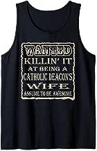 Roman Catholic Deacon Wife Pun Gift Wanted Poster Tank Top