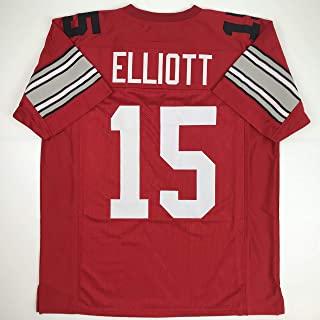 Unsigned Ezekiel Elliott Ohio State Red Custom Stitched College Football Jersey Size Men's XL New No Brands/Logos