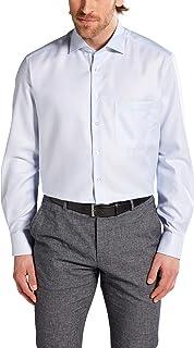 Eterna Long Sleeve Shirt Comfort FIT Twill Structured Light Blue