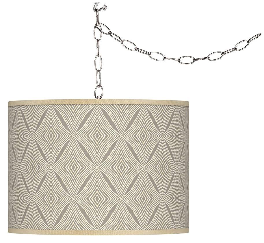 Moroccan Diamonds Giclee Glow Plug-in Swag Pendant - Giclee Glow