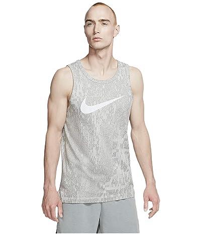 Nike Dri-FITtm Cotton Tank Print (Pure Platinum/Particle Grey) Men