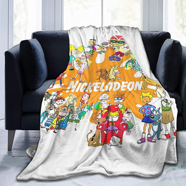 WUKON Super-Soft 90's 送料無料 一部地域を除く Nick Cartoons Blanket 激安通販ショッピング for Throw S Suitable
