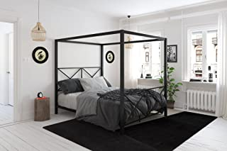 DHP Rosedale Canopy Bed, Full, Black