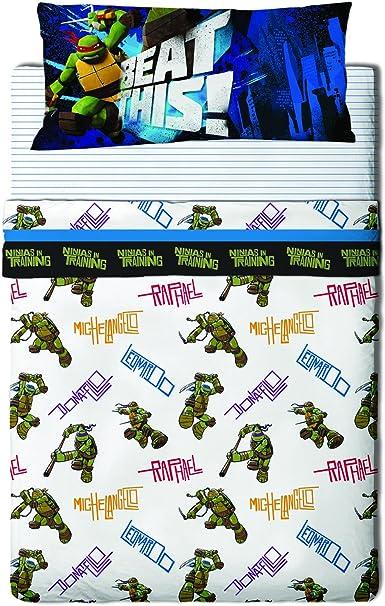 Tartarughe Virus Mutanti Set Di Lenzuola Tartarughe Ninja Bros Letto 90 Multicolore Amazon It Casa E Cucina