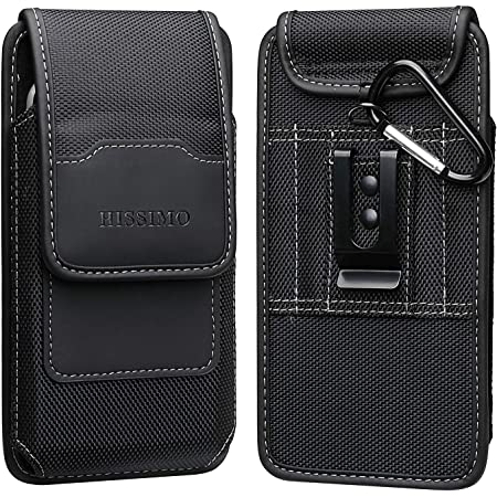 HISSIMO Belt Clip Holster for iPhone 11, 11 Pro Max, XR, Xs Max, 8 Plus, Cell Phone Case Pouch Pocket with Credit Card Holder, Black