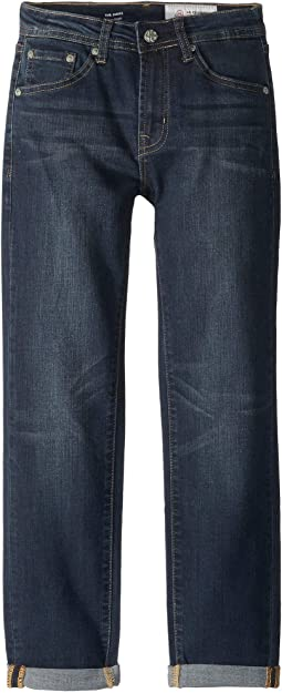 Slim Straight Roll Cuff Jeans in Society Wash (Big Kids)
