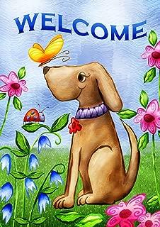 Toland Home Garden 112078 Welcome Dog 12.5 x 18 Inch Decorative, Garden Flag (12.5