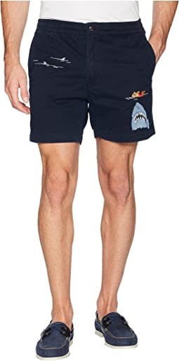 Embroidered Stretch Twill Shorts