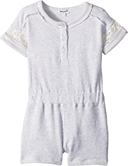 French Terry Romper w/ Lace (Little Kids)