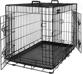 FEANDREA Jaula Metálica para Perros, Transportín Plegable