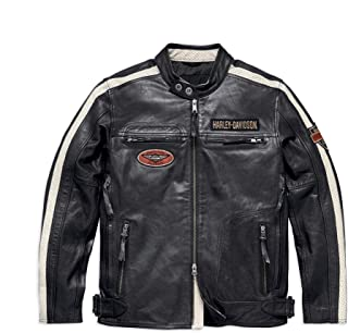 Men's Command Leather Jacket, Black