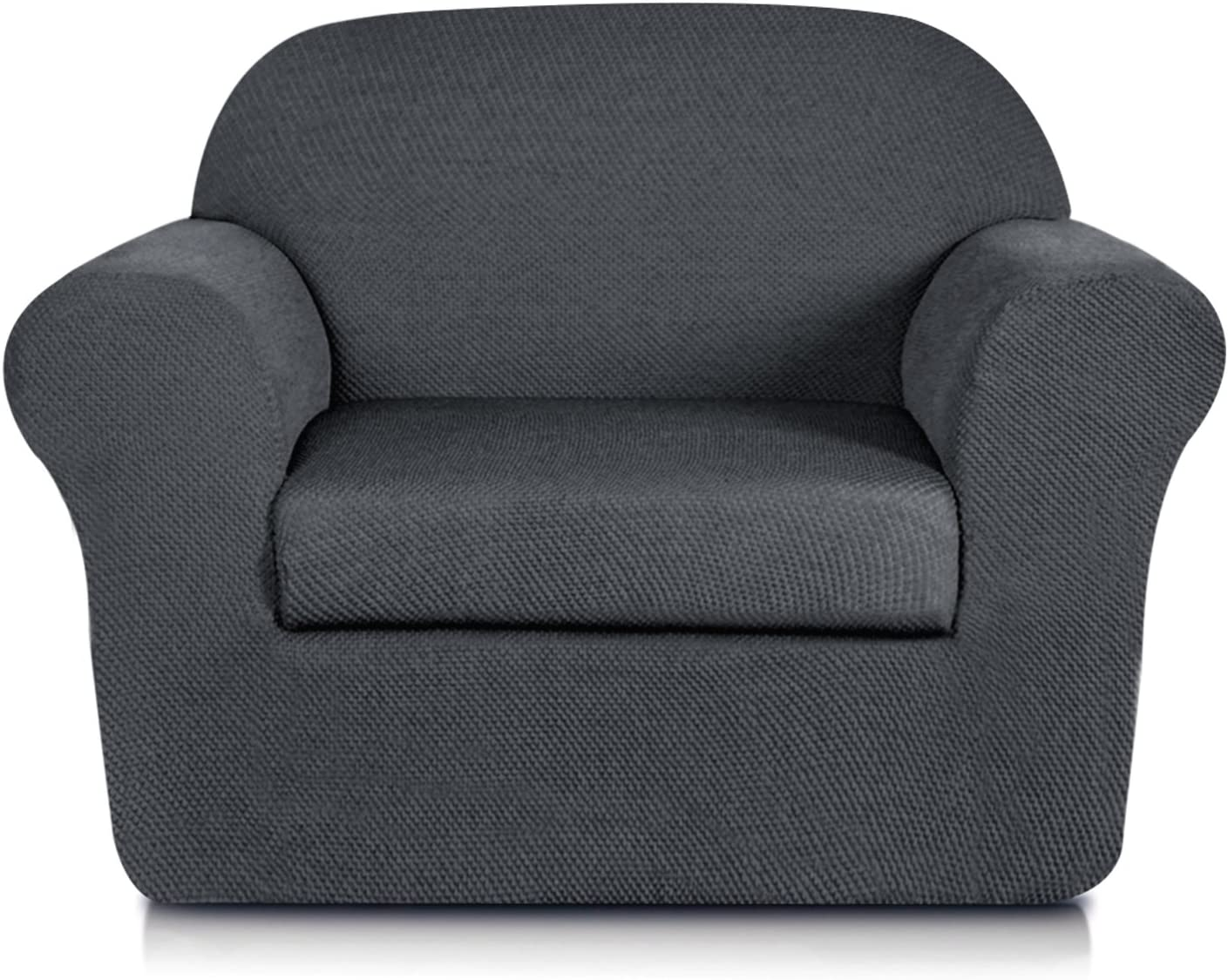 Special sale item subrtex 2-Piece Spandex We OFFer at cheap prices Stretch Sofa Chair Ja Slipcovers 2pcs