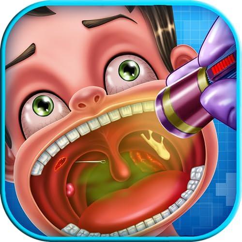 El médico de la garganta: Un juego educativo del médico para los niños - ser un médico de la garganta!