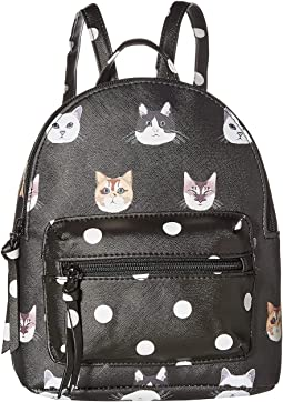 Cat/Polka Dot Backpack