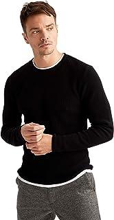 50/% poliestere traspirante ed elegante DeFacto da indossare per casual e con stile con chiusura lampo leggero Cardigan da ragazzo con cappuccio 50/% cotone