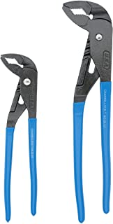 """Channellock GL10 GripLock 1-3/4-Inch Jaw Capacity 9-1/2-Inch Utility Tongue and Groove Plier, Blue, 2 Piece Set, 9.5"""", 12.5"""""""