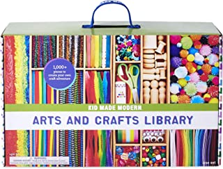 Kid Made Modern New Arts and Crafts Library Set - Kid Craft Supplies, Art Projects in A Box