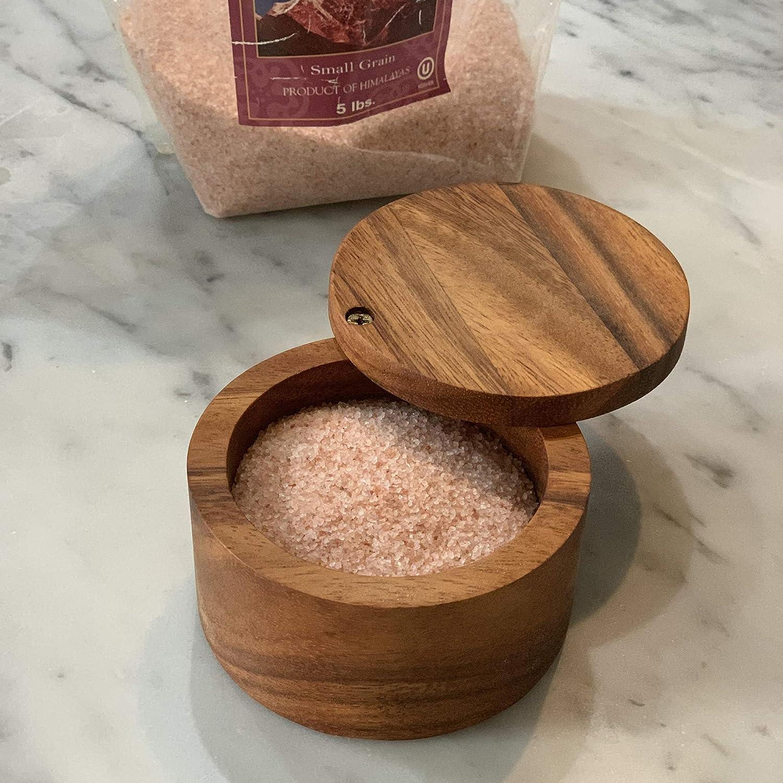 28221 Appalachian Salt Cellar Acacia Wood New Version