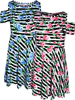 Real Love Girl's Printed Yummy Summer Dress (2 Pack)