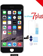 Screen Replacement for iPhone 7 Plus (5.5) LCD 3D Touch Screen Digitizer Display with Free Repair Tool Kits + Free Screen Protector Black