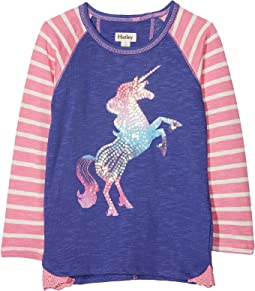 Playful Unicorn Raglan Tee (Toddler/Little Kids/Big Kids)