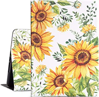 Drodalala iPad 10.2 Case New iPad 7th Gen 10.2 inch Cover Premium Leather with Soft TPU Back Cover Smart Case for iPad 10.2 2019 7th Generation Cover (Sunflower)