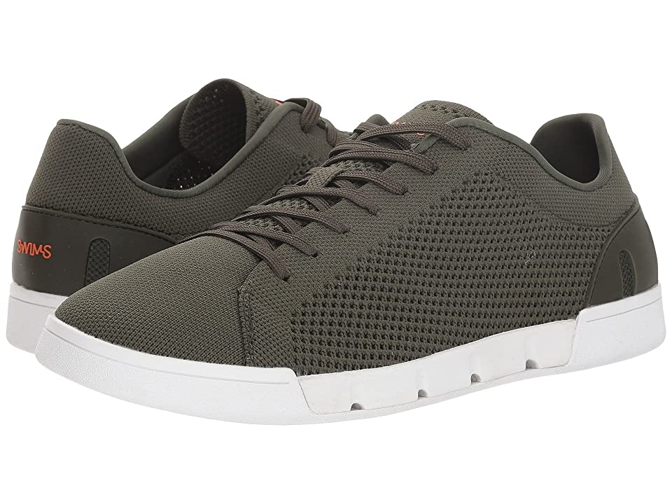 SWIMS Breeze Tennis Knit (Olive/White) Men
